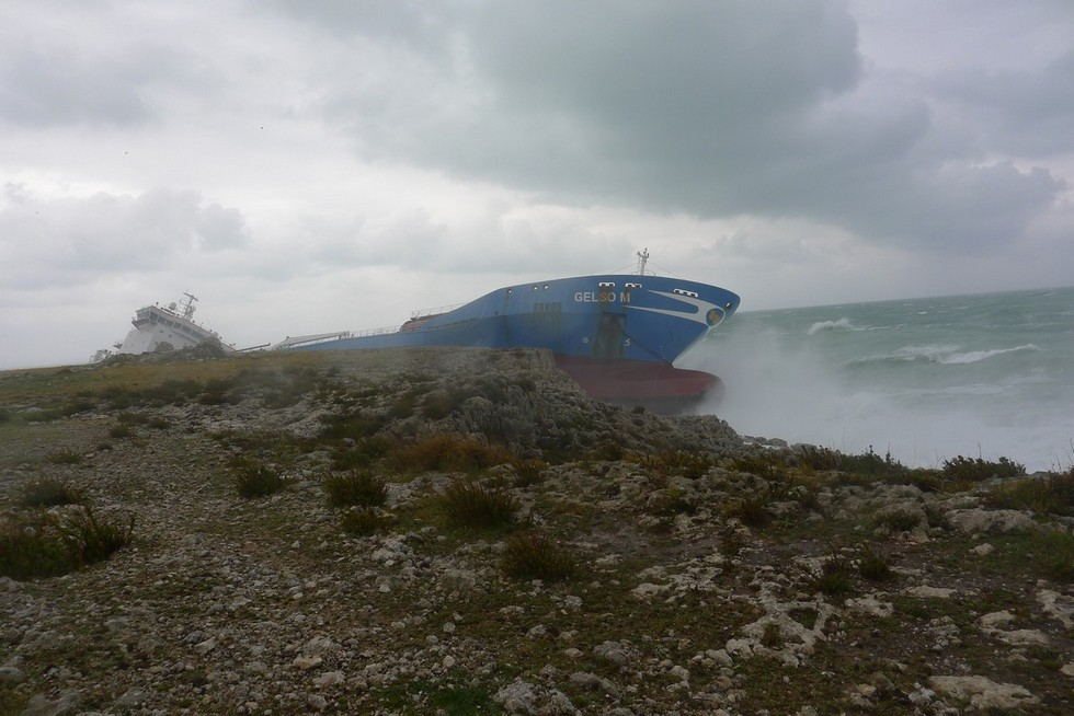 Ship grounded