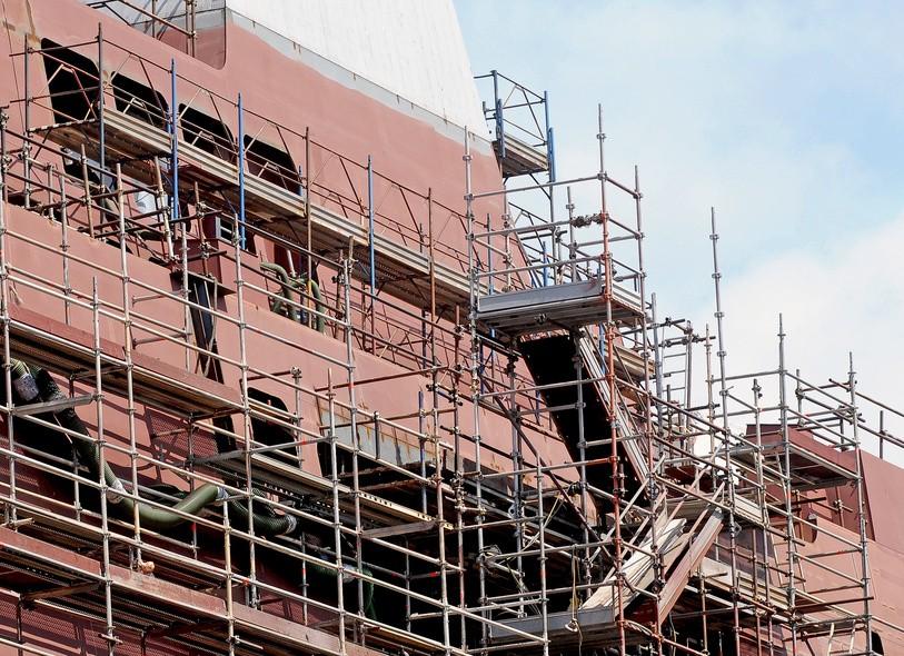 New building in shipyard