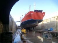 Ro-Ro in dry dock