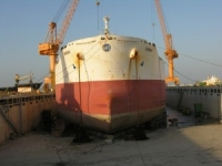 Vessel in dry dock for special survey
